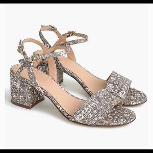 J.crew animal print sandals block heel sz:7.5
